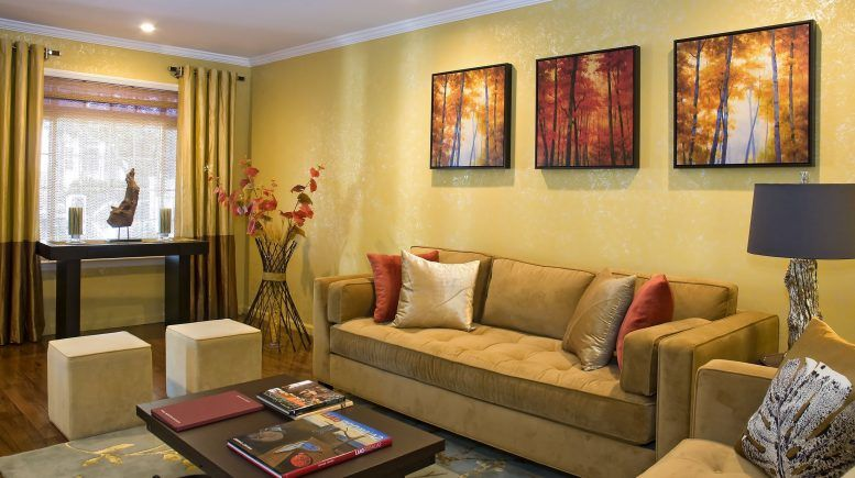 Tan Walls Living Room Ideas Brown Wall Color Gold Metal Chandelier ...