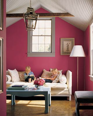 This is a martha stewart paint color watermelon pink i used it in