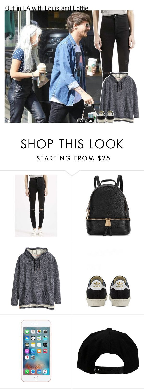 """#1628"" by sofi-camachod ❤ liked on Polyvore featuring Topshop, Michael Kors, H&M, adidas, O'Neill, Chicnova Fashion, OneDirection, louistomlinson, onedirectionoutfits and LottieTomlinson"