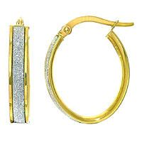 Italian Hoop Earrings In 14k Yellow Gold May Is Gold Monthfaves
