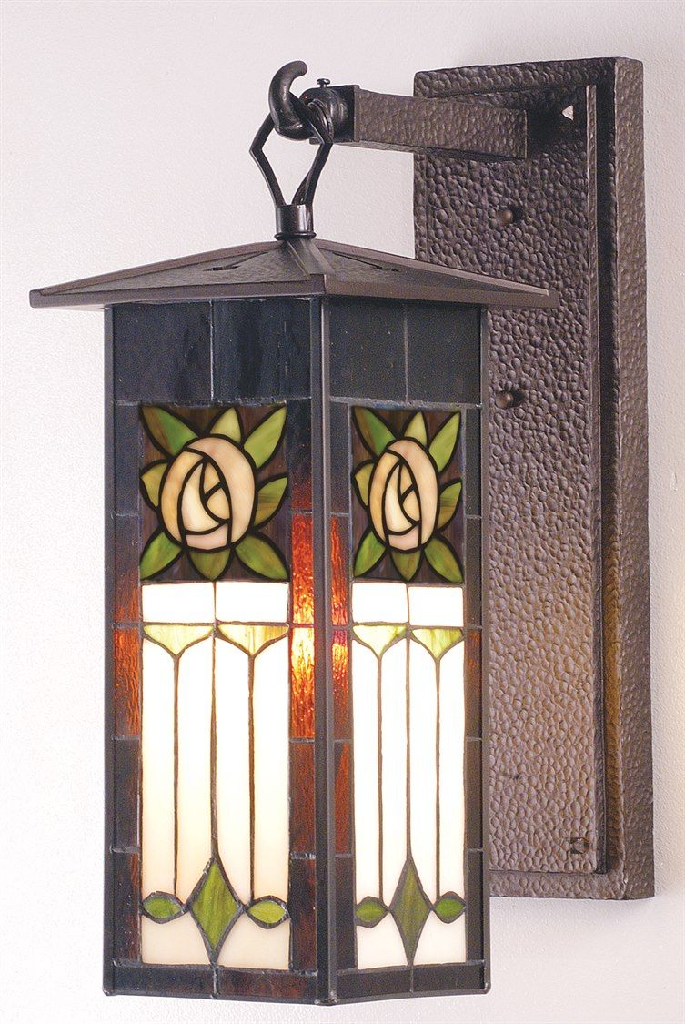 meyda tiffany pasadena rose outdoor wall light | 73217