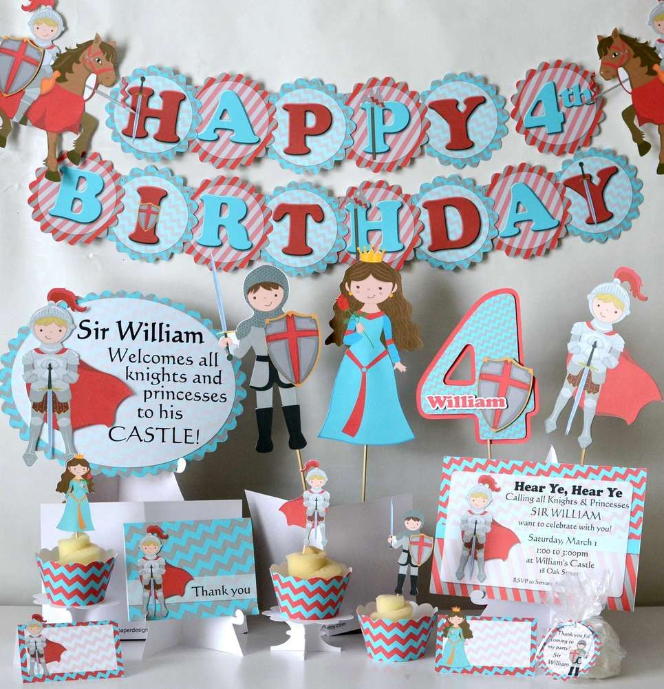 Knight and Princess Party Birthday Party Ideas | Princess party ...