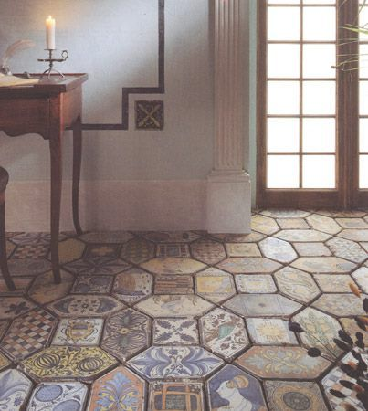 Reproduction Medieval Tiles Magic Italy Floor Coverings