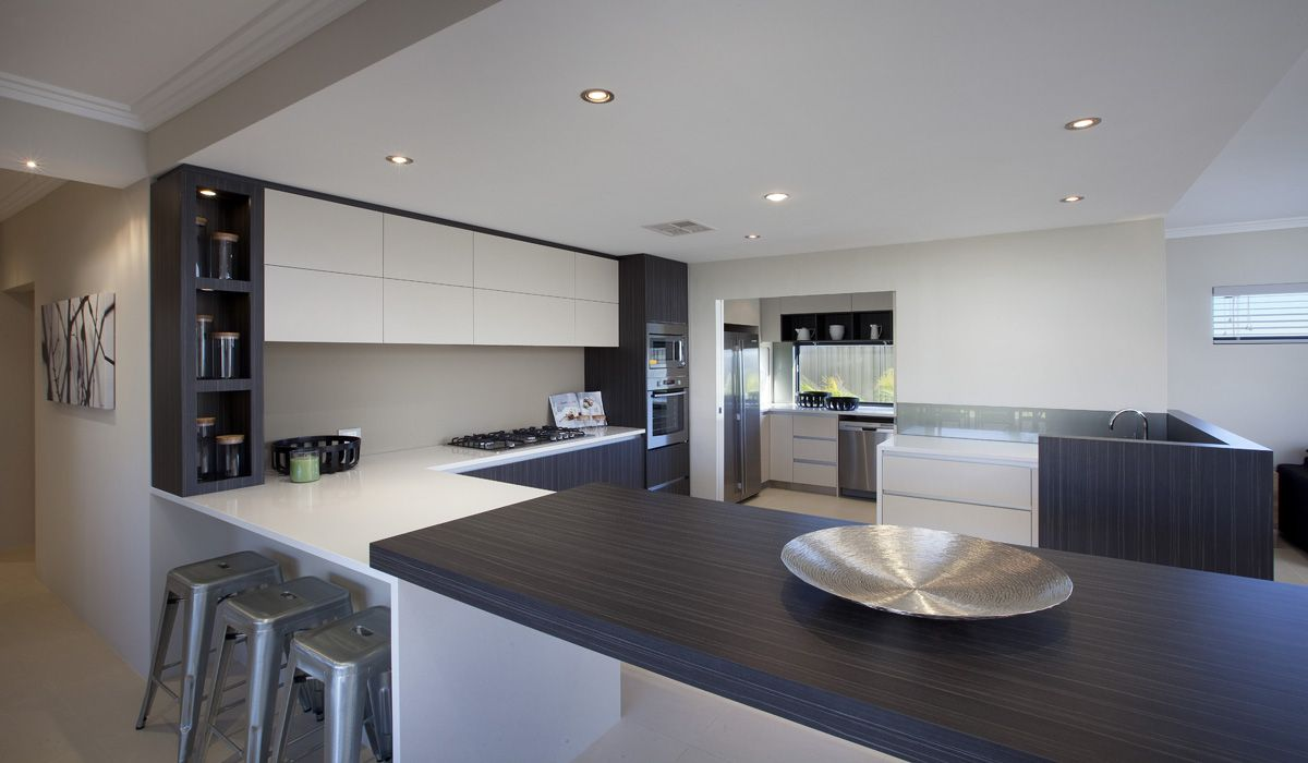 Massive central modern kitchen with scullery burns beach