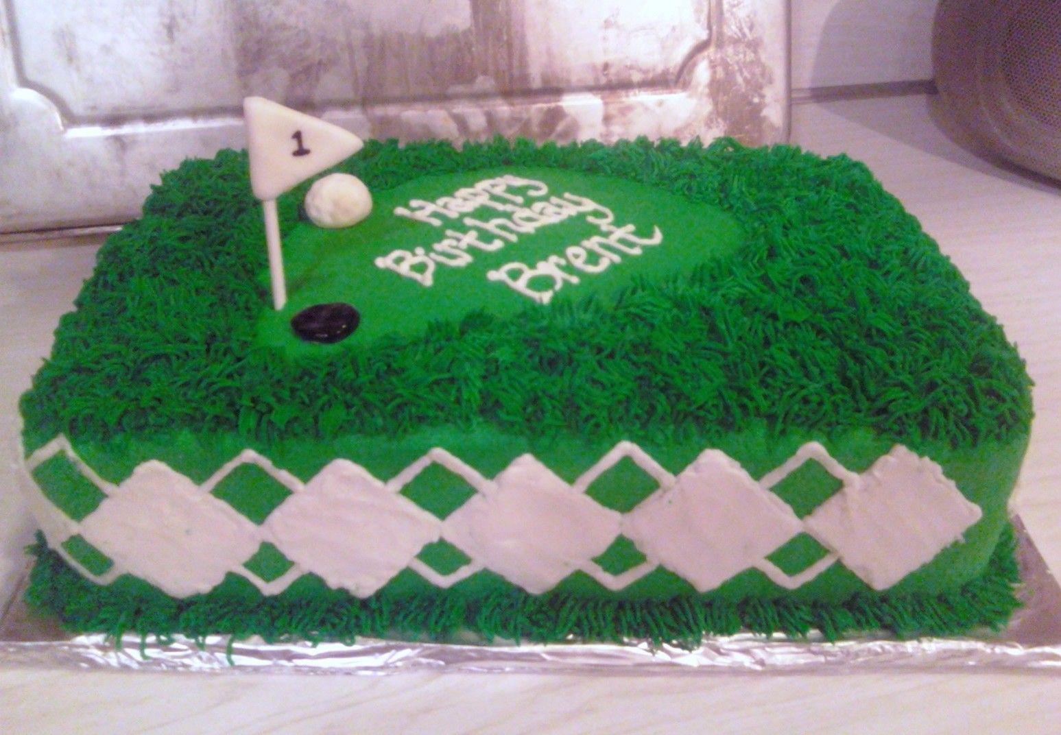Sarah's Cake Haven Golf birthday cakes, Golf cake