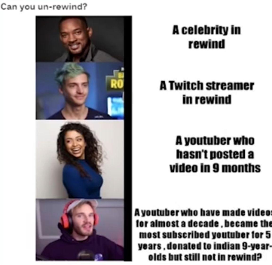 Youtube Rewind 2018 Meme Youtube Rewind Pewdiepie Funny Pewdiepie Meme