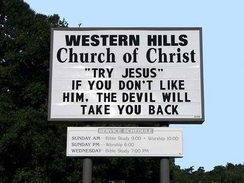 Church Sign Quotes Stunning 99 Hilarious Ironic And Allaround Strange Church Signs  Funny