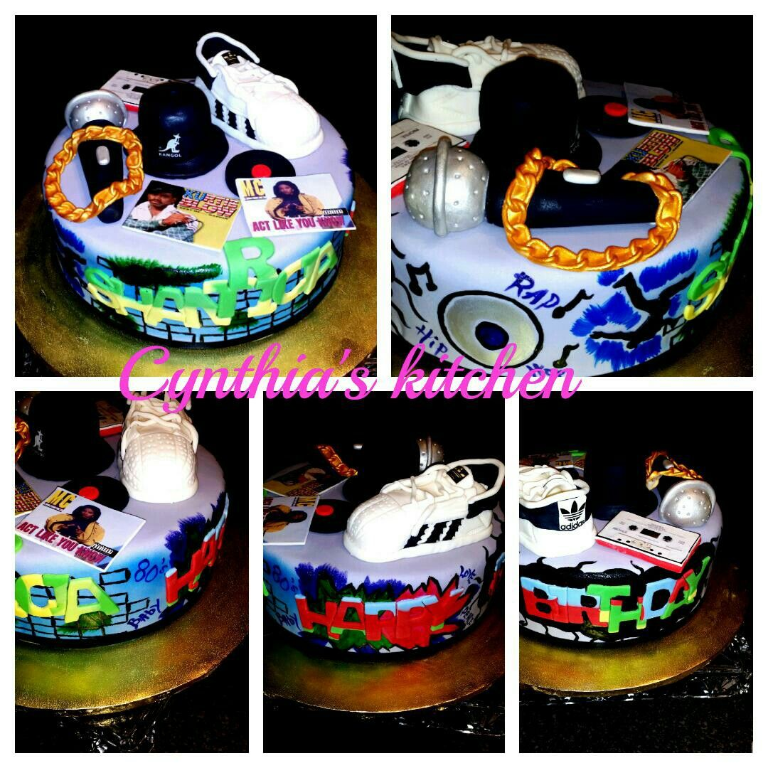 80 39 s themed hip hop graffiti old school cake birthday for Old school party decorations
