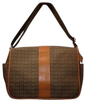 Coach New Fashion Computer Diaper Beige Brown Messenger Bag