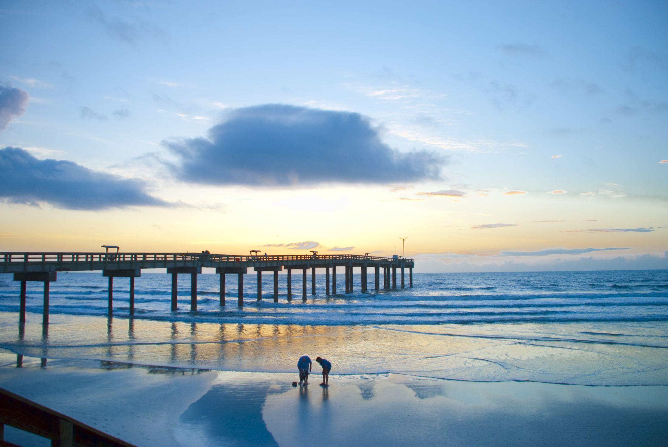 St Augustine Beach Pier Daybreak