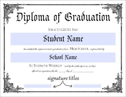 Donna Young\'s Printable High School Diploma...this will sure come in ...