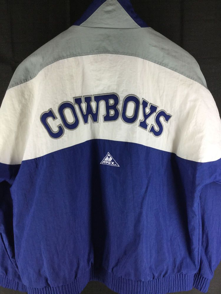 VINTAGE 90 S MENS DALLAS COWBOYS PRO LINE APEX ONE JACKET LARGE AIKMAN   ProlineApex  DallasCowboys c8f3ef40c