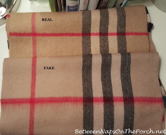 719b550e3e04 Difference Between Real Burberry Cashemere Scarf   a Fake Burberry Scarf