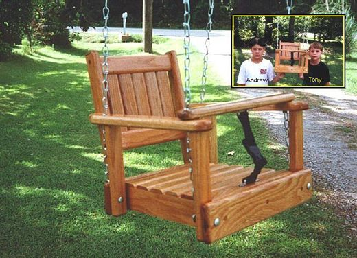 Swing For Molly But Nicer Looking Than This Porch Swing Plans Toddler Swing Child Swing Seat