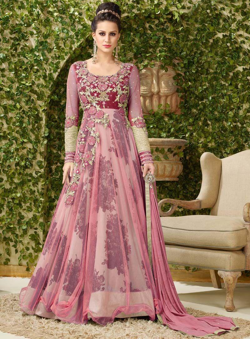 c9c7ca0f37a ... wear suit 1. Light Pink Net Designer Gown 80632