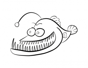 Angler Fish Coloring Page Finding Nemo Coloring Pages Nemo Coloring Pages Fish Coloring Page