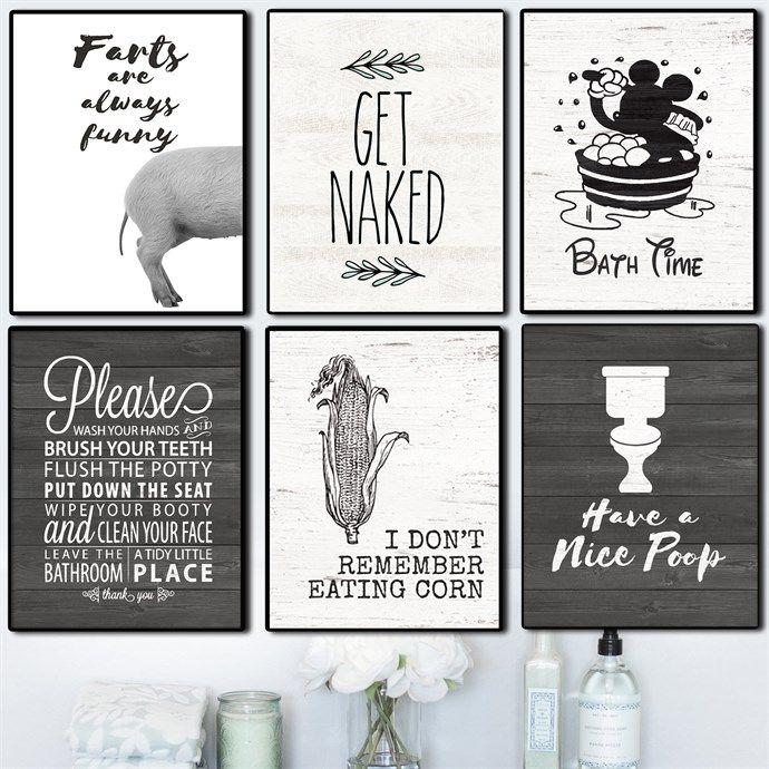 Cheeky Bathroom Art Prints 2 Sizes Funnies Bathroom Art Art