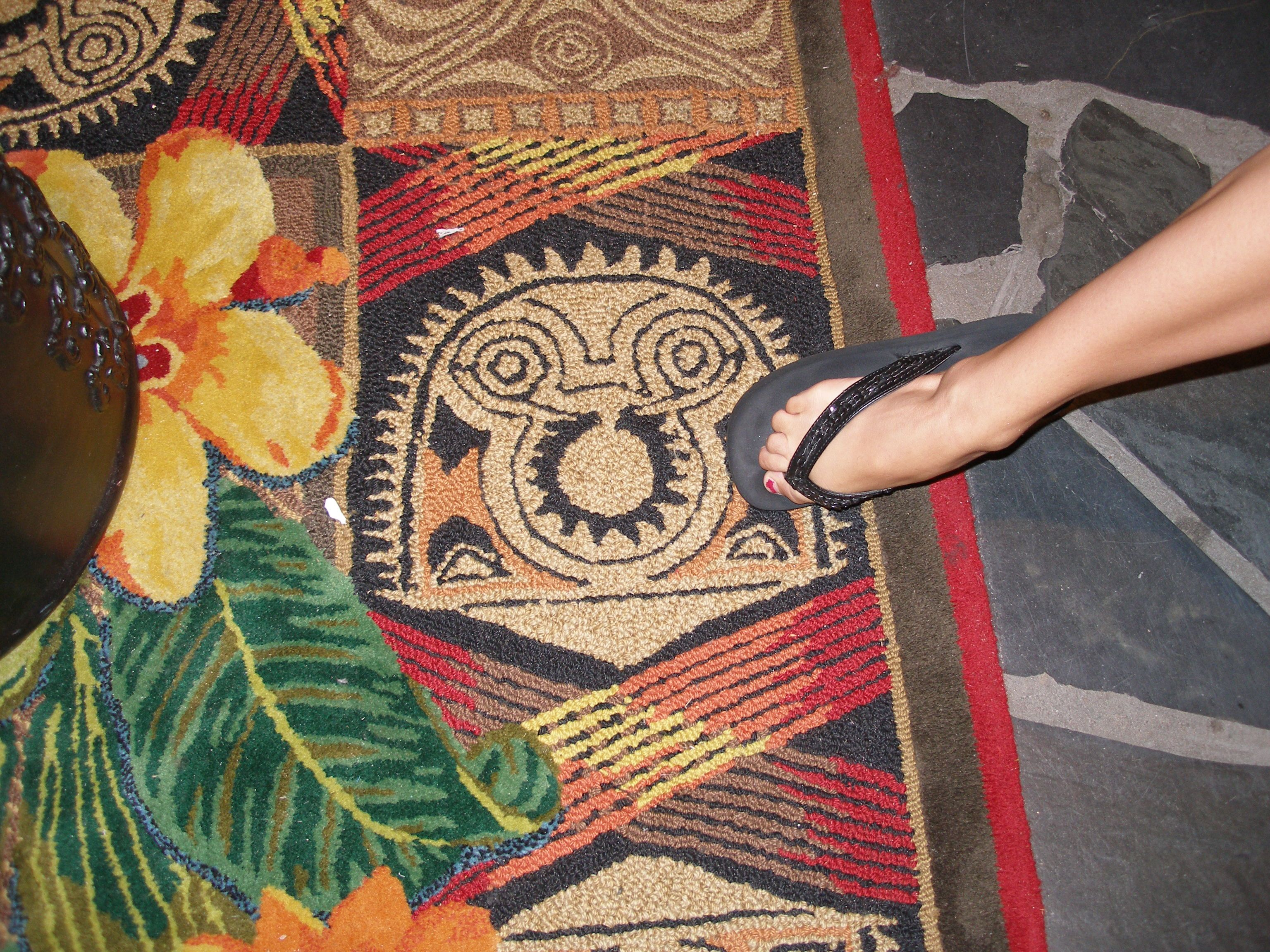 Carpet at the Polynesian Resort