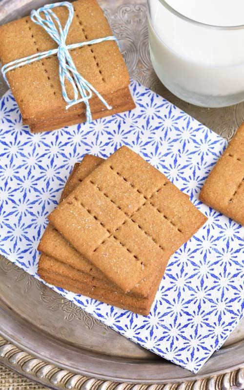 Make delicious Homemade Graham Crackers. Perfect for snacking and making s'mores.