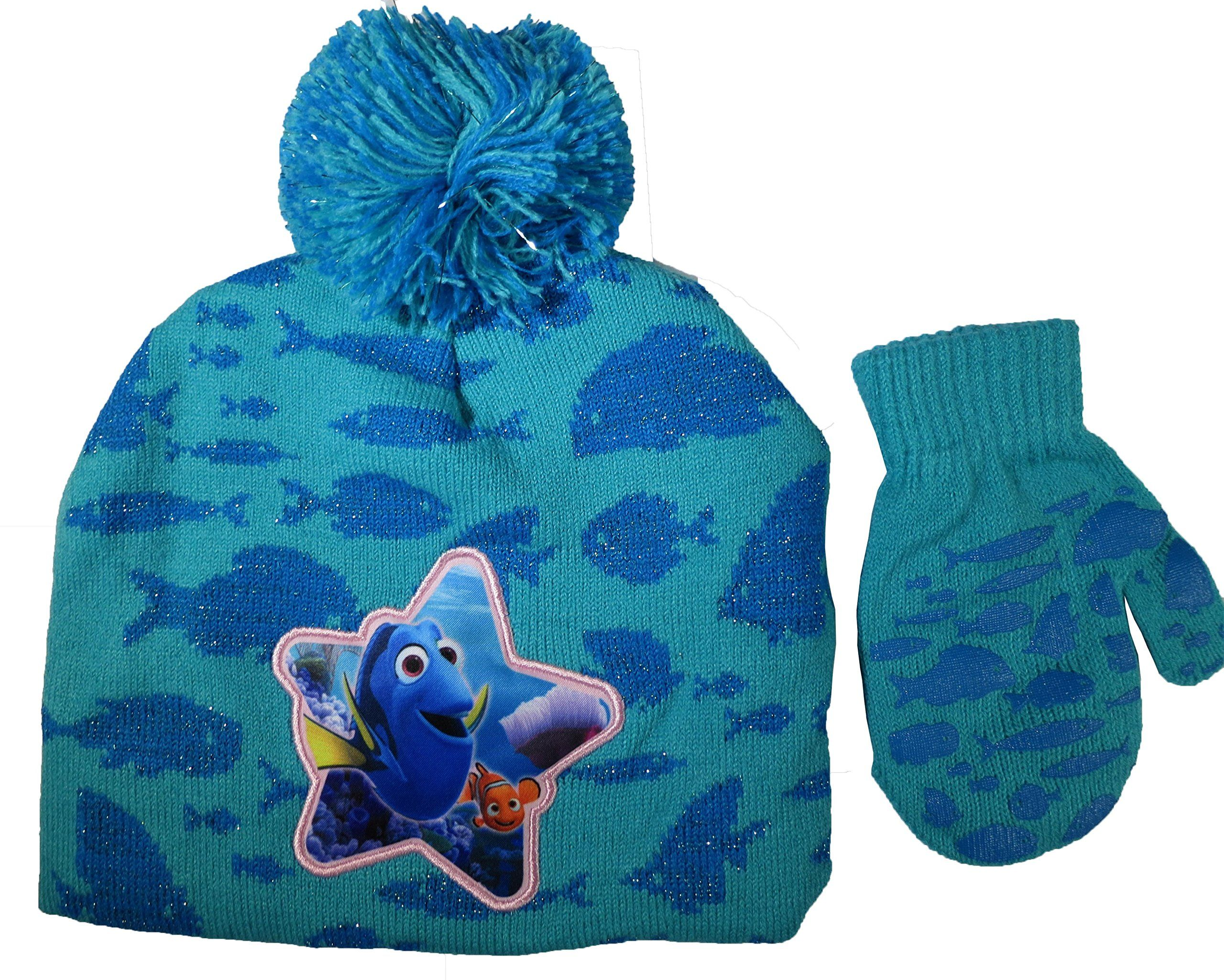 9d304ae8ef6 Disney Finding Dory Nemo Girls Hat and Mitten Set - Toddler  4013 . Features