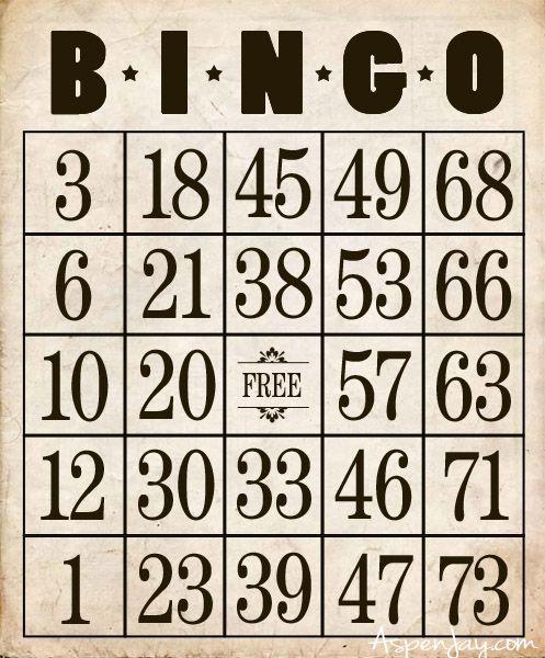 Free Printable Bingo Cards Aspen Jay Free Printable Bingo Cards Bingo Cards Printable Bingo Printable