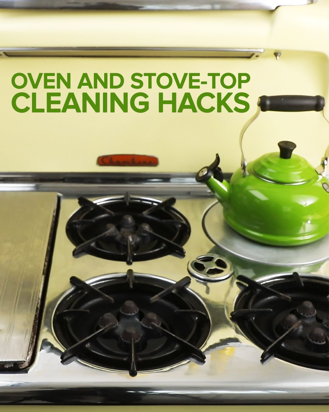 Oven And Stovetop Cleaning Hacks Cleaning Hacks Clean Stove Top