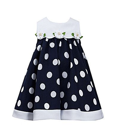 Bonnie Jean 2T4T LargeDot Nautical ALine Dress #Dillards