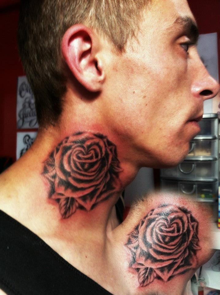 427bca4deed29 neck tattoo black rose by CalebSlabzzzGraham on DeviantArt | Tattoos ...