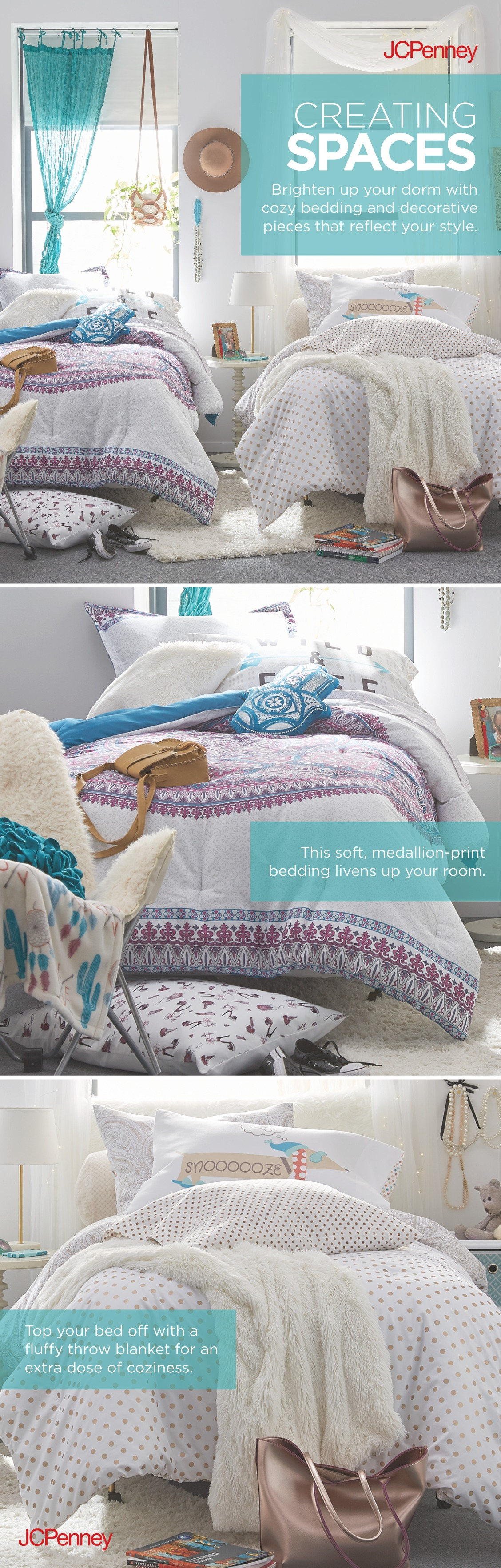 Comforters, throw pillows, blankets and more! JCPenney has ...