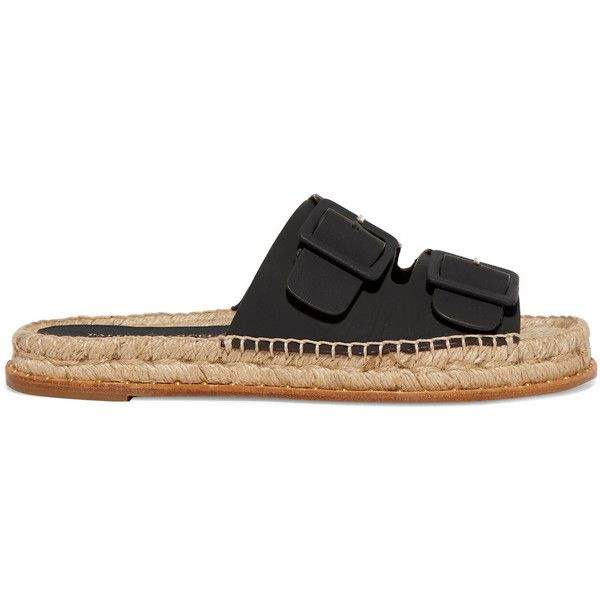 Paloma Barceló - Rachele Buckled Leather Espadrilles (€135) ❤ liked on  Polyvore featuring. Brown ...