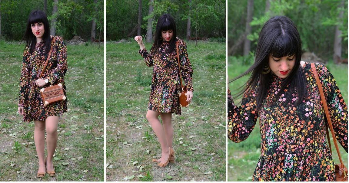 Cómo combinar un vestido de flores en un look original y especial