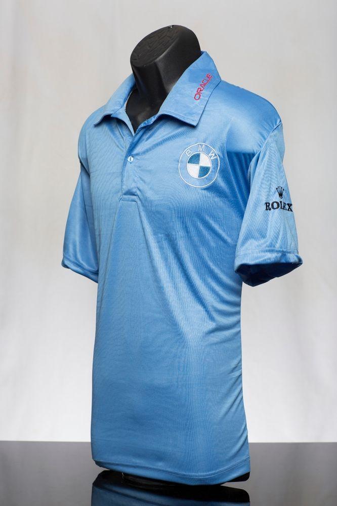 Details About Men S Blue Golf Polo Pga Sponsor Logo Bmw