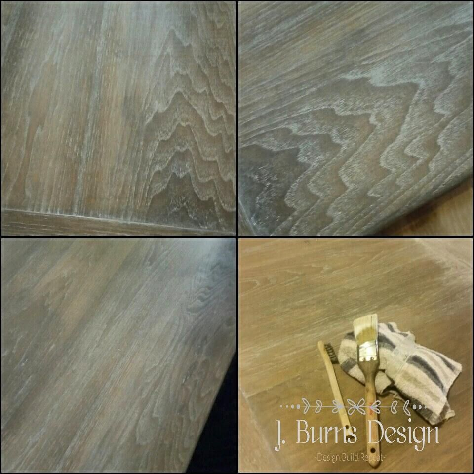 Cece Caldwell S Beech Nut Gray Stain Finish Used To Ceruse A Piece Of Hickory Wood Created By J Burns Design Cece Grey Stain Hickory Wood Stain Finishes