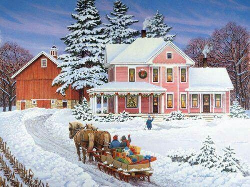 Pretty Christmas Scene | Country Christmas scenes | Pinterest ...