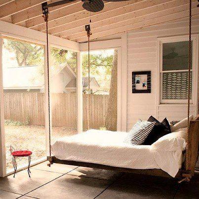 Increíble cama suspendida de Swing!