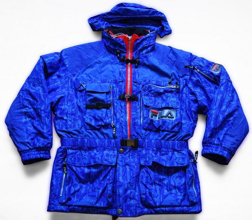 c915c07dec00 Vintage 90s Fila Ski / Snowboard Jacket made for Ski Team Italy Blue Size  M/L…