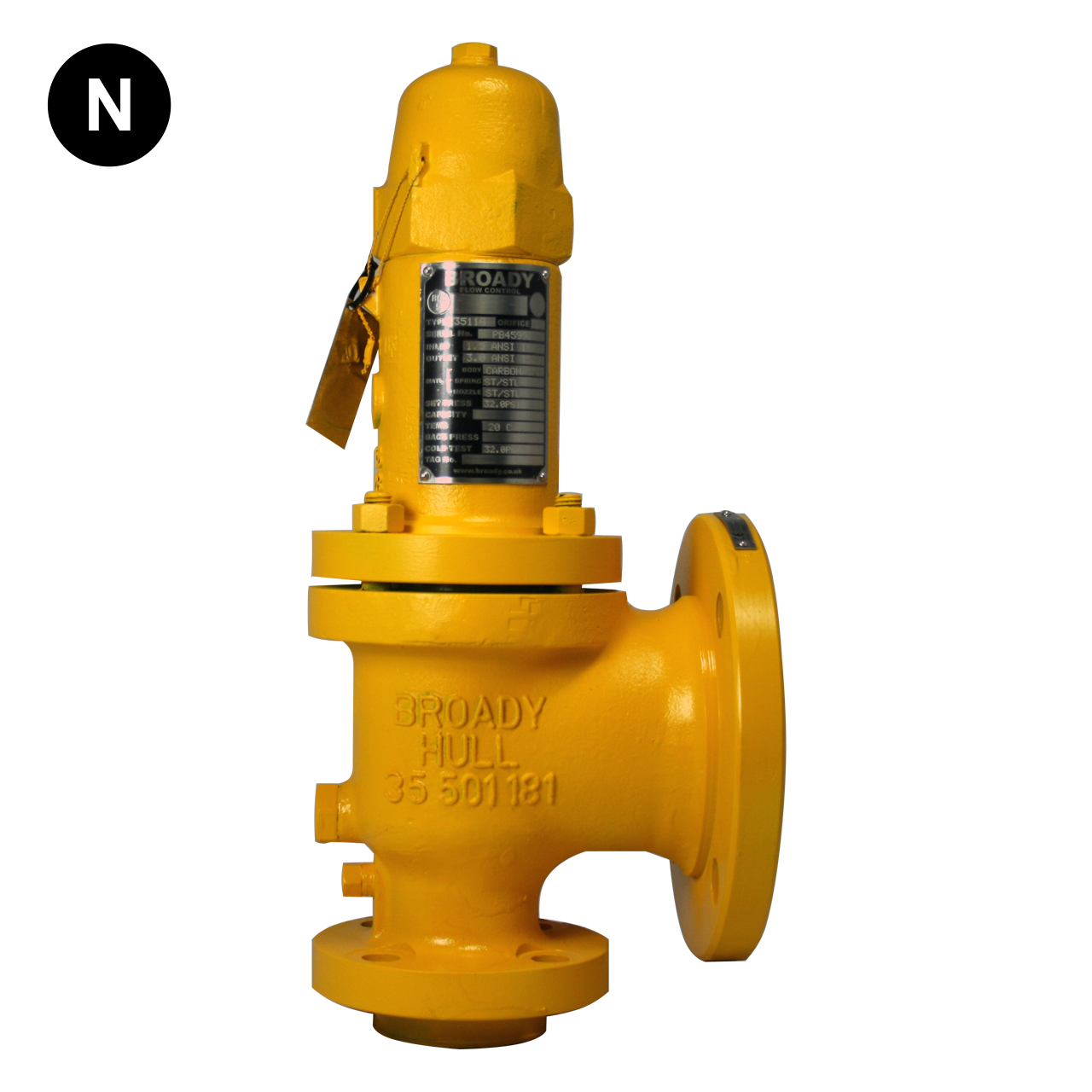 Broady 3500 Safety Relief Valve (UK Castings) Relief