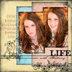 scrapbook layouts - by shelby