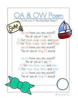 ow and oa poem song freebie poetry pinterest poem songs and. Black Bedroom Furniture Sets. Home Design Ideas