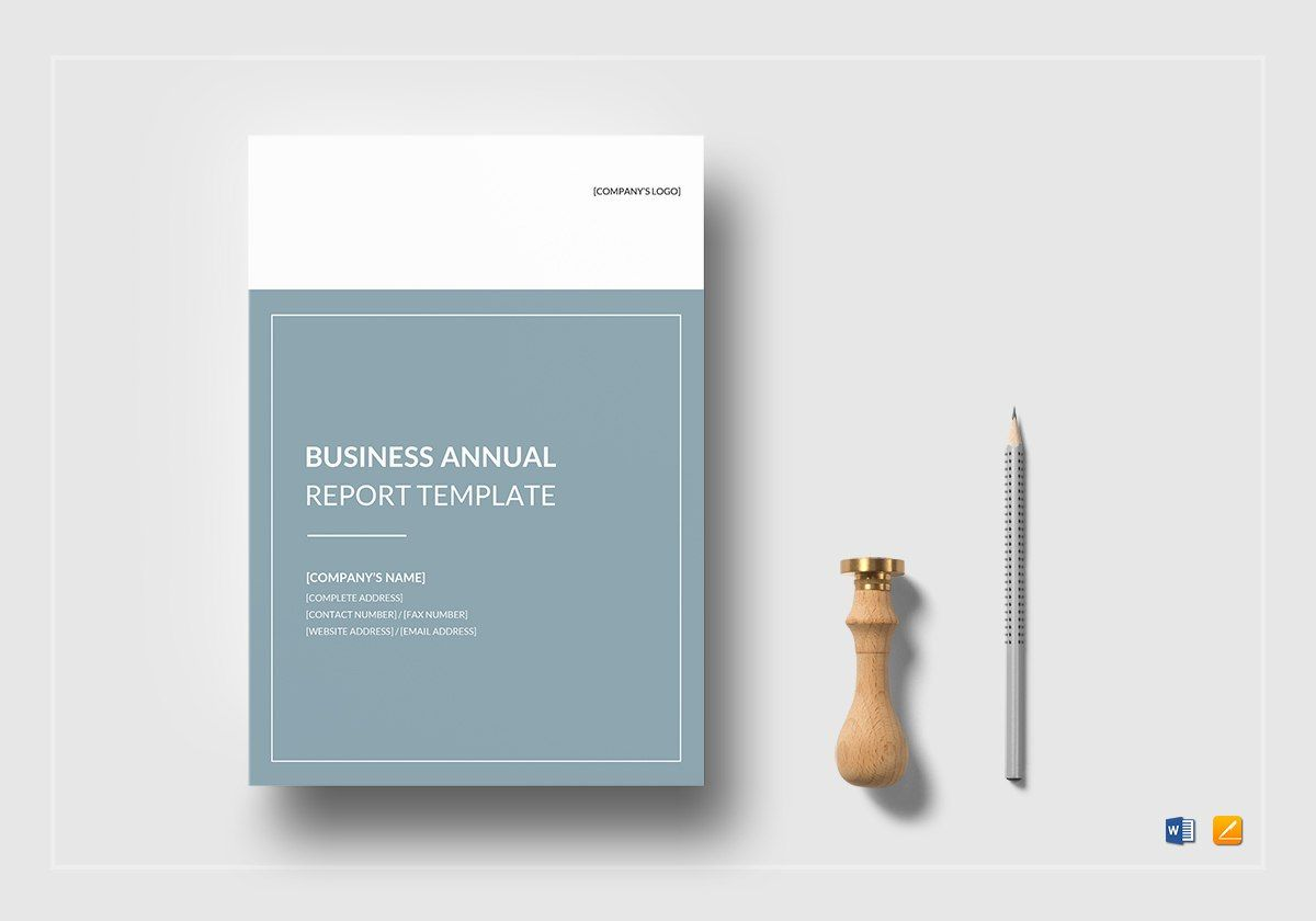 Business Annual Report Template In Word Google Docs Apple Pages Inside Annual Report Template Word 10 Profession In 2020 Word Template Report Template Annual Report