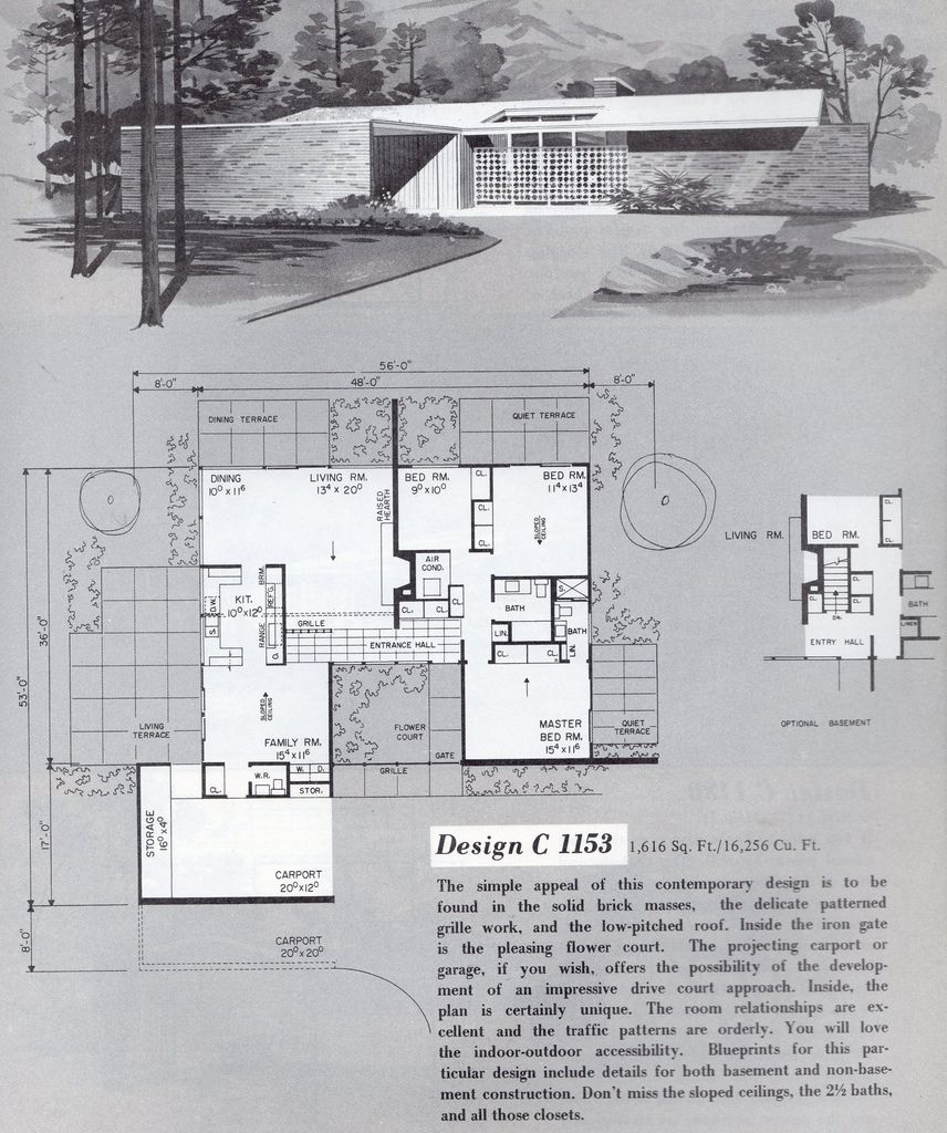 Untitled | Vintage house plans, Modern house plans, Mid ...