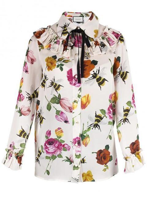 b5794880fa90c0 GUCCI Floral Print Blouse. #gucci #cloth #blouse | Gucci in 2019 ...