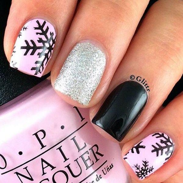 45 Cute Pink And Black Nails Designs Black Nails Beauty Nails And