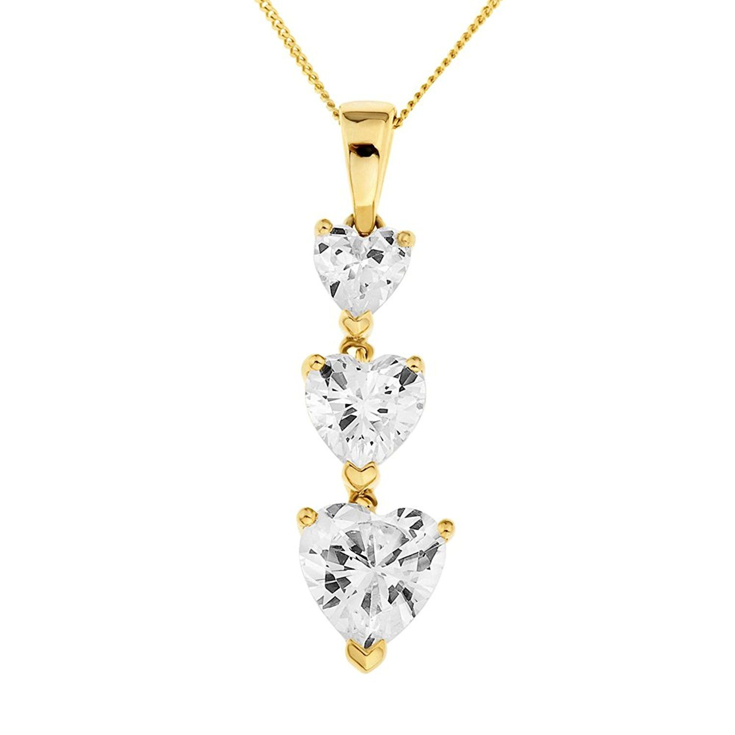 Ornami Glamour 9ct White Gold Diamond and Tanzanite Flower Pendant with 46cm Curb Chain JD5hxasXG