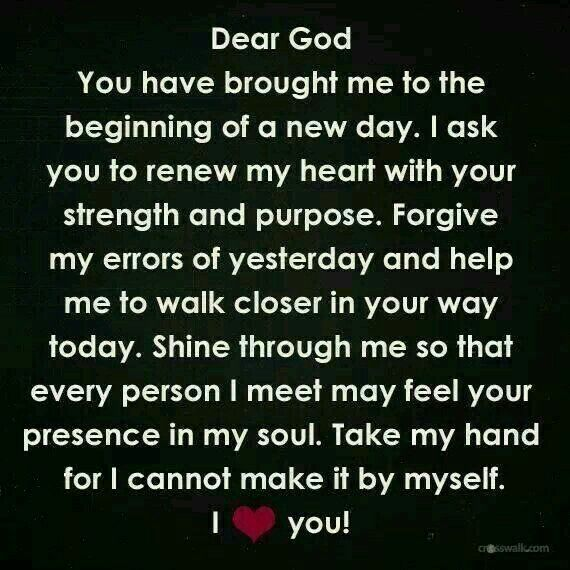Brand new day, thank you Jesus