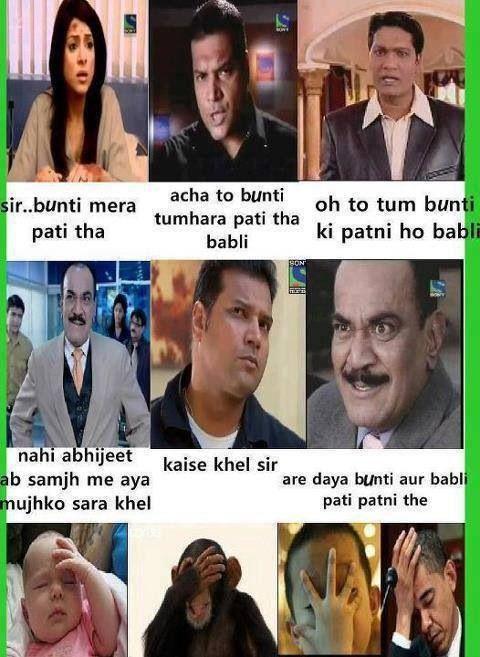 Looool the Indian drama CID jokes #desi #asian #www asianlol com