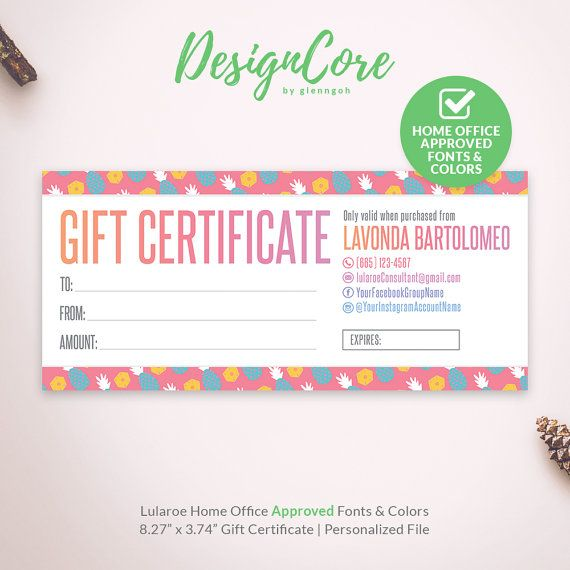 lularoe gift certificate pineapple fruit home office approved