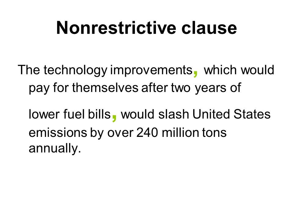 Image Result For Nonrestrictive Clause