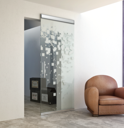 Magic 2 Vetro Wall Mount Concealed Sliding System For Glass