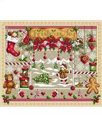 Christmas Welcome Door Counted Cross Stitch Kit DMC